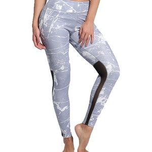 Grå Yoga Fitness Tights Leggings Pants