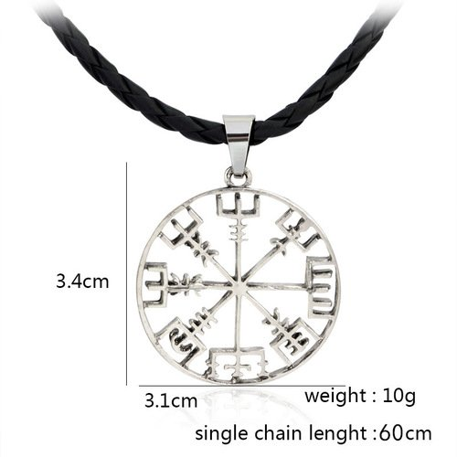 Hot Pirate Compass Vikings Necklace Halsband