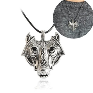 Norse Wolf Vikings Necklace Halsband