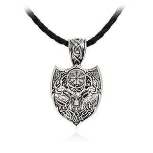 Shield Amulet Vikings Necklace Halsband