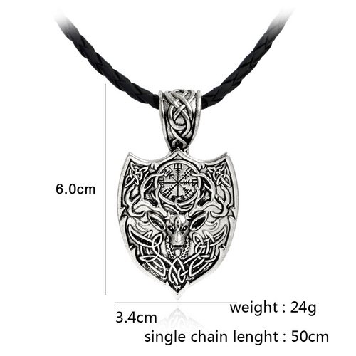 Shield Amulet Vikings Necklace