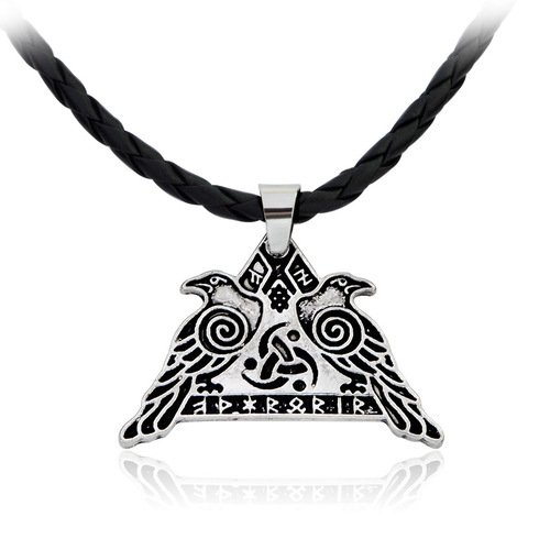 Legends Rune Odin's Crow Hammer Vikings Necklace Halsband