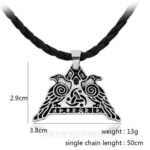 Legends Rune Odin's Crow Hammer Vikings Necklace
