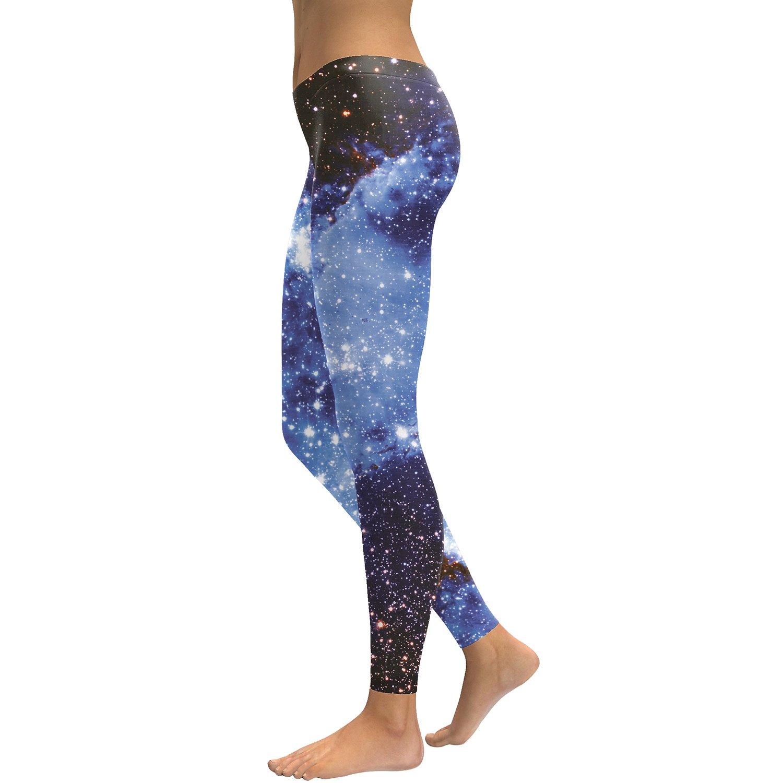 Blå Galaxy Leggings