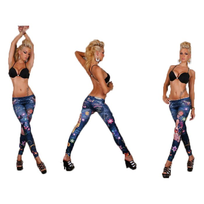 BLUE BUTTERFLY GIRL LEGGINGS