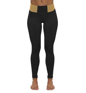 Black and Beige Leggings