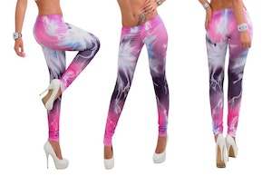 Rosa Galaxy Leggings