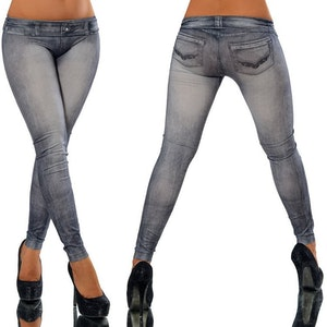 Svarta Jeans Leggings Jeggings