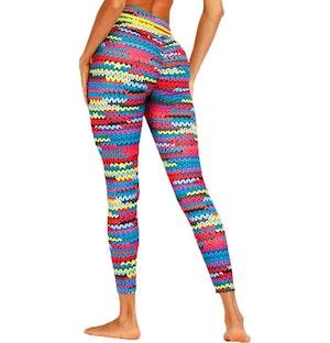 Stick mönstrade yoga leggings