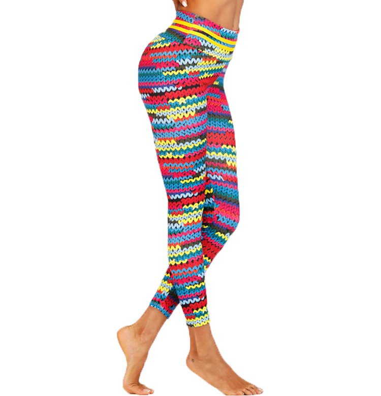 Stick mönstrade yoga leggings