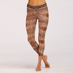 Stick mönstrade Leggings