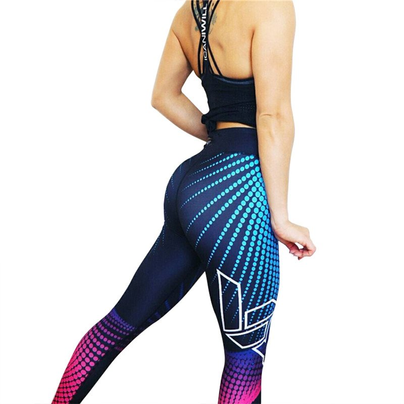 Färgglada Yoga Leggings