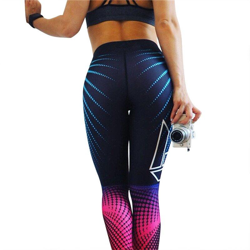Färgglada Yoga Leggings
