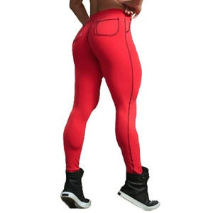 Röda Hot Fashion Leggings