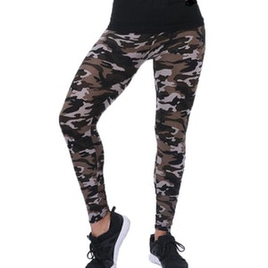 Kamouflage Leggings Brun