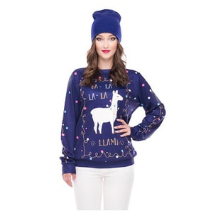 Cartoon Lama Sweatshirt