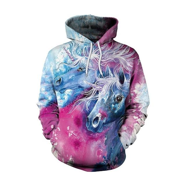 Unicorn 3D Hoodies Sweatshirt