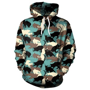 Camouflage Cat 3D Hoodies
