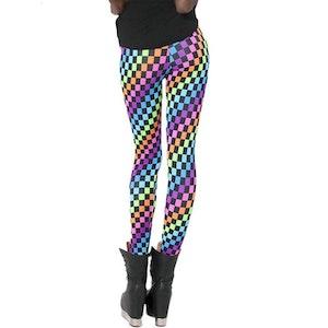 Färgglada rutiga leggings