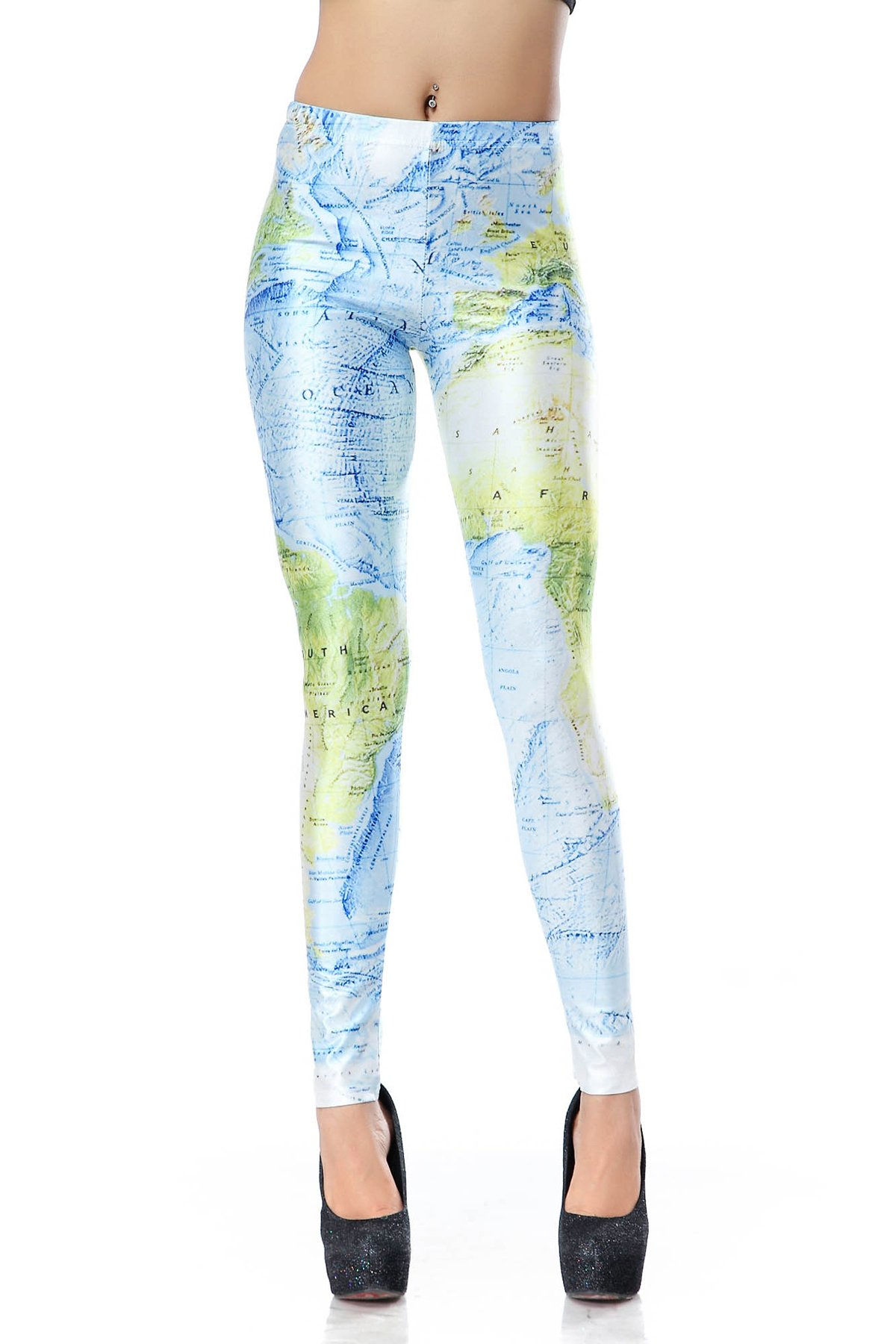 Lord of the ring Vintage map Leggings