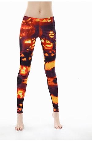 Burning Pumpkin Leggings