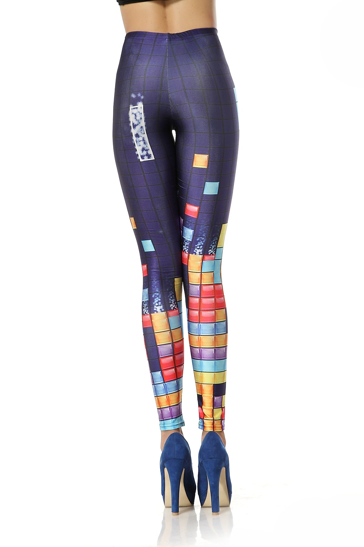 Färgglada Tetris Leggings