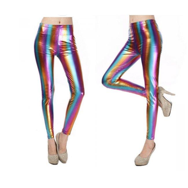 Metallic leggings i härliga färger