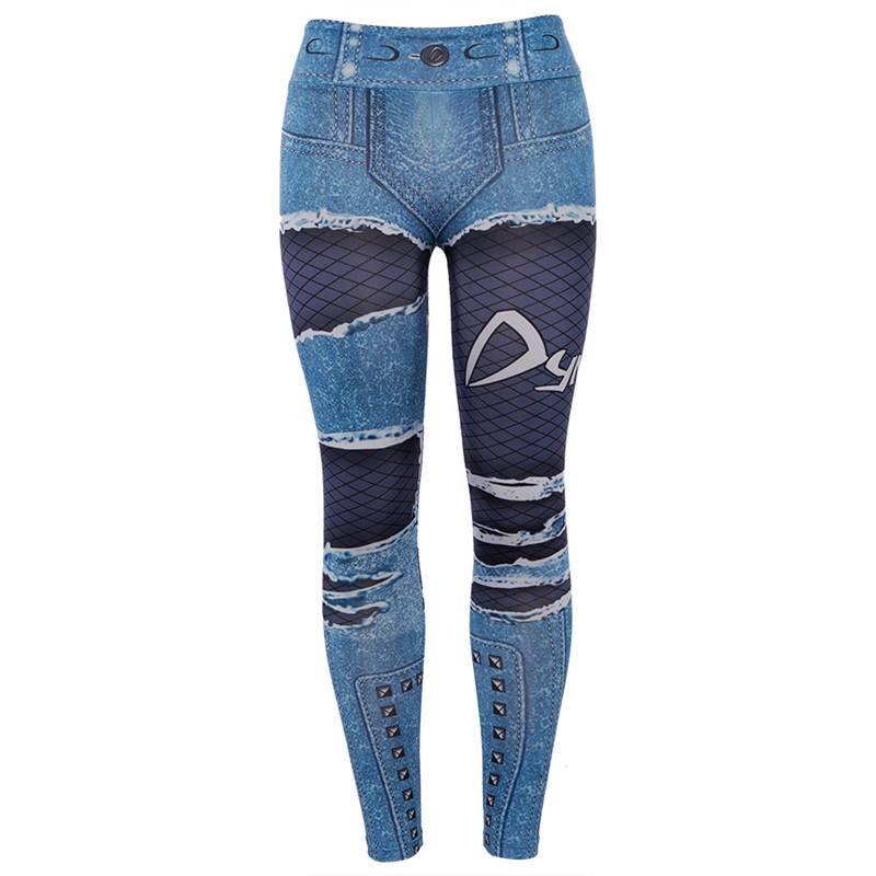 Leggings Jeansmotiv