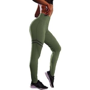 Gröna Leggings med hög midja