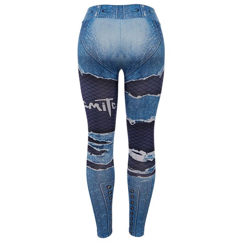 Leggings Jeansmotiv