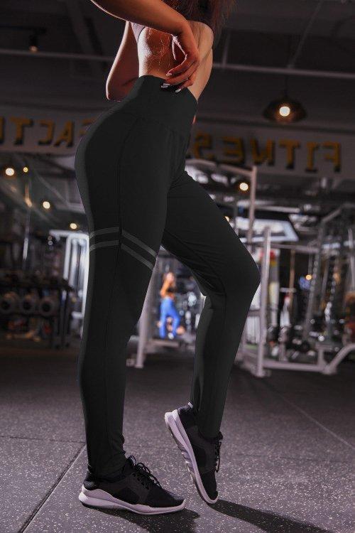 Svarta Leggings med hög midja