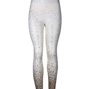 Vita Leggings med Guldtryck