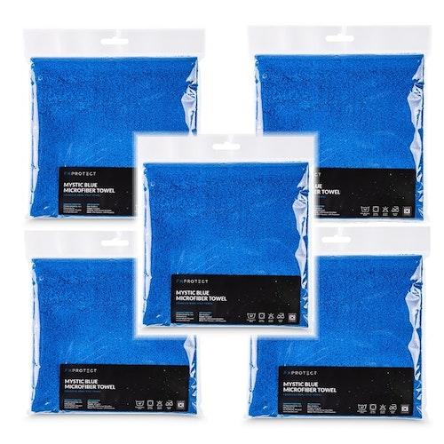 5-pack FX PROTECT EDGELESS MYSTIC BLUE 350GSM mikrofiberduk