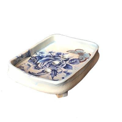Handgjord tvålkopp keramik