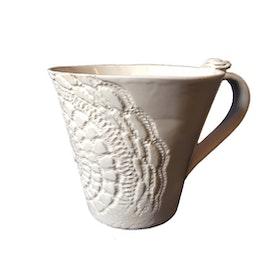 Vit keramikmugg