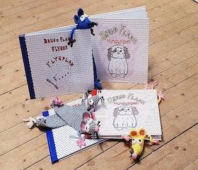 Kampanj två barnböcker och bokråtta