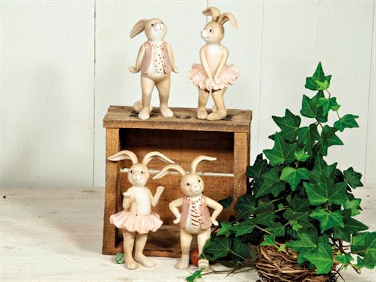 Söta hon och han kaniner att dekorera med.