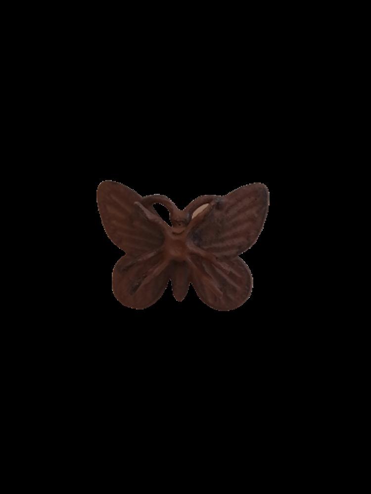 Rustik fjäril i gjutjärn för ditt hem.
