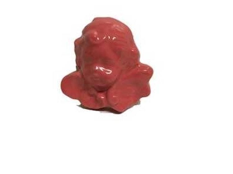 Lilla Täppan rosa handgjord keramikängel