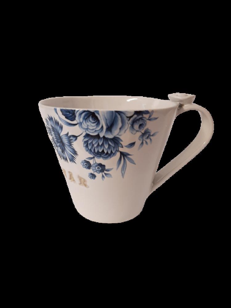 Lilla Täppan keramikmugg med text glad pensionär.