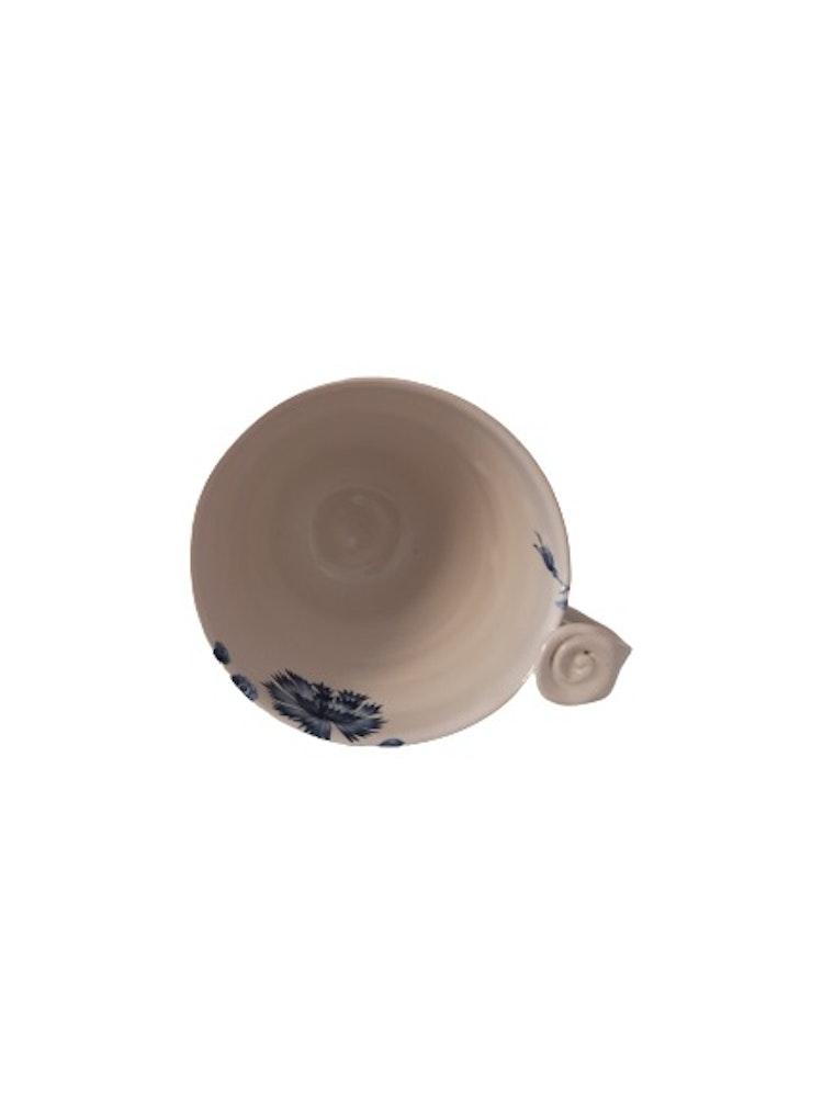 Drejad kaffemugg med Nötväcka