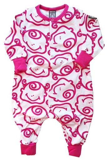 Pyjamas, rosa-vit, strl 50-56