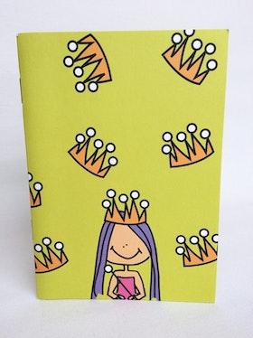 Skrivbok, a6 linjerad, Prinsessa