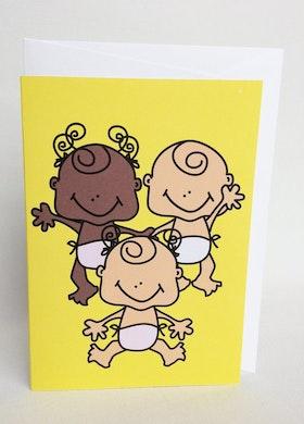 Kort med kuvert - Babyboom