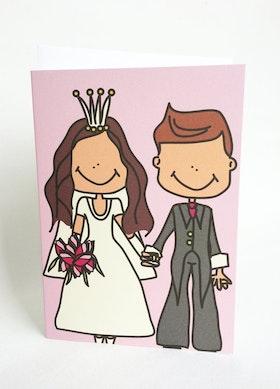 Kort med kuvert - Bröllop