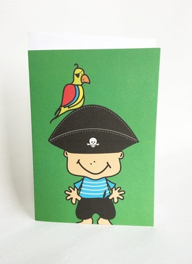 Kort med kuvert - Pirat