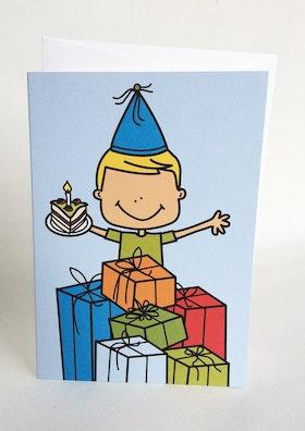 Kort med kuvert - Födelsedagskille