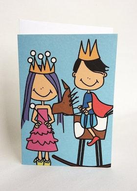 Kort med kuvert - Prins & Prinsessa
