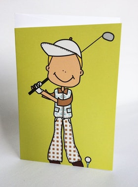 Kort med kuvert - Golfare