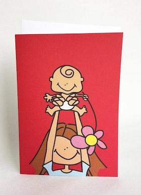 Kort med kuvert - Mamma & baby